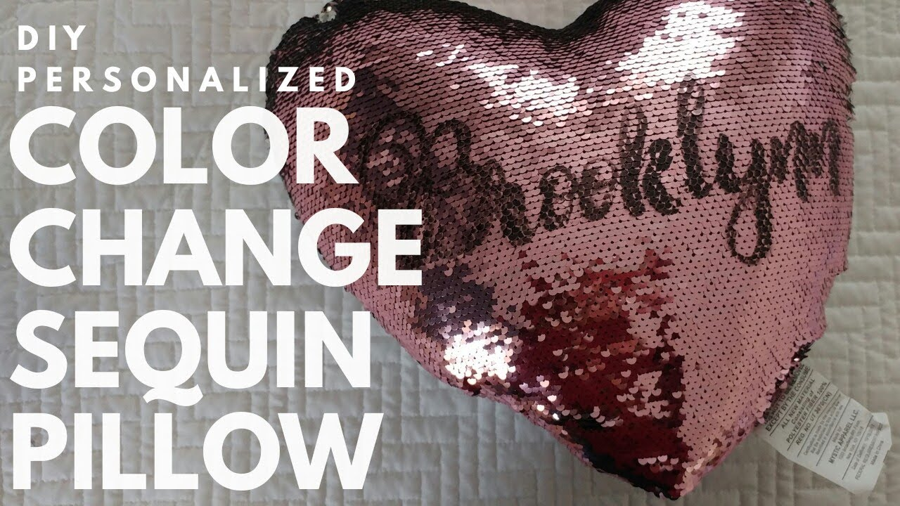 tutorial diy personalized sequin pillow color change sequin pillow mermaid sequin pillow