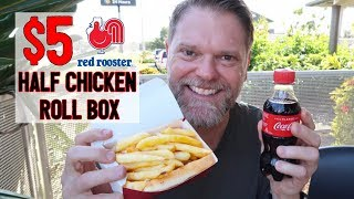 $5 Red Rooster Half Chicken Roll Box Meal Deal Review - Greg's Kitchen