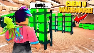 I Broke Into a HIDDEN Chemical U Warehouse.. What I Found Will SHOCK YOU! (Roblox Bloxburg)