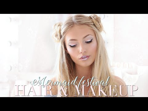 EASY MERMAID FESTIVAL INSPIRED HAIR & MAKEUP | Freddy My Love
