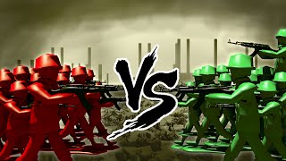 Minecraft | RED VS GREEN ARMY SOLDIERS CHALLENGE!