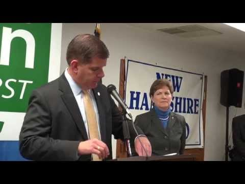 "Marty Walsh Calls Scott Brown a ""Phony"" While Endorsing Jeanne Shaheen"