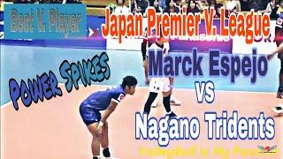 MARCK ESPEJO vs NAGANO TRIDENTS | Japan V. League 2018-2019