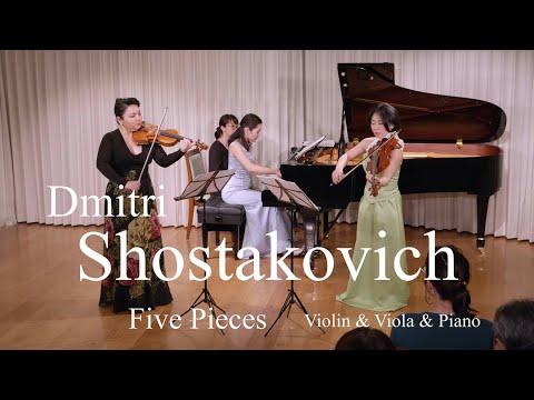 Dmitri Shostakovich /Five Pieces for 2Violins and Piano (Violin and Viola)