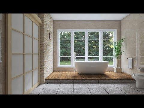 Make Interior design bathroom with Sketchup