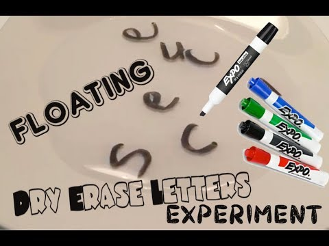 Floating Dry Erase Letters Experiment (floating dry erase