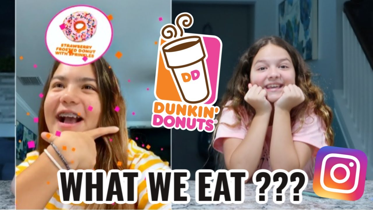 LETTING INSTAGRAM FILTER CHOOSE WHAT WE GET FROM DUNKIN DONUTS | SISTER FOREVER