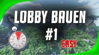 🗻 LOBBY BAUEN LERNEN ● EASY & Schnell 🕐 #EP 1 von 3    Minecraft Bauen [ GERMAN / DEUTSCH ]
