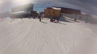 Эльбрус 2016. ст. Гара-Баши-Мир, г .ТЕРСКОЛ,  Катание на сноуборде.
