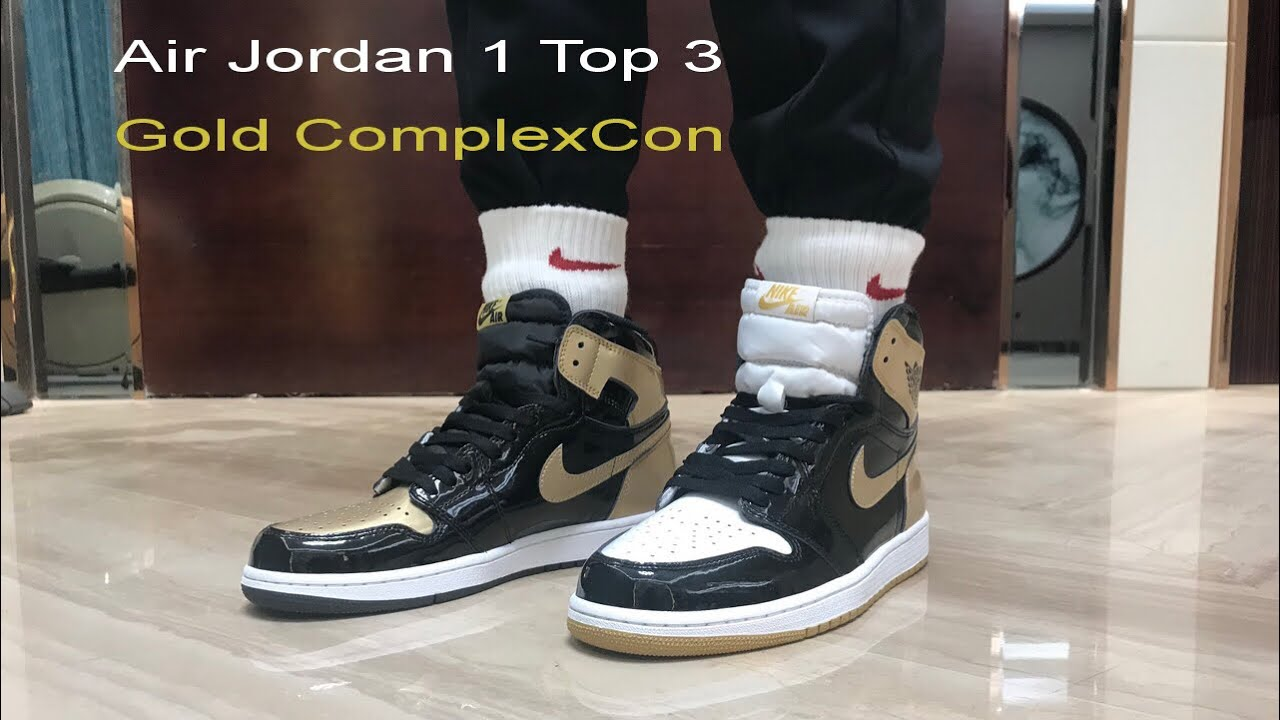 47381a486b5 Air Jordan 1 Gold Top 3 + on foot Review - YouTube