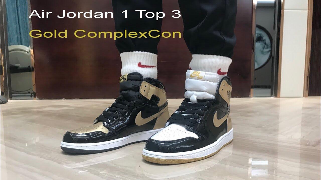 Air Jordan 1 Gold Top 3 + on foot Review