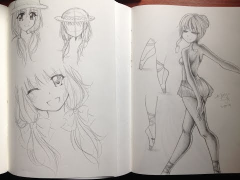 Manga/Anime Sketchbooks & Drawings 2014