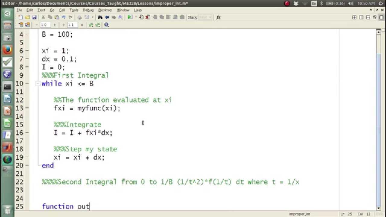 MATLAB Help - Improper integrals