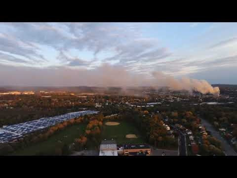 Dover NJ Fire, Aerial View From Wharton NJ @400ft