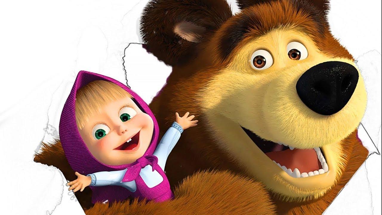 маша и медведь фото героев на белом фоне