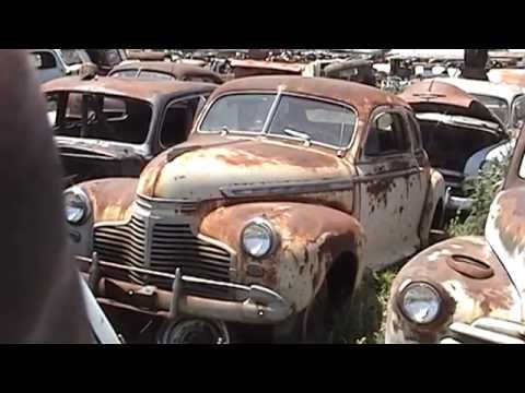 Old Chevy Coupes Ford Race Car Still At Classic Junkyard