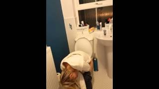 Drunk toilet snore