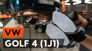 Hvordan man ændrer Bremseklods foran og bag VW GOLF: videovejledning