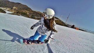 Snowboarding. Как я училась кататься на сноуборде. Winter 2014.
