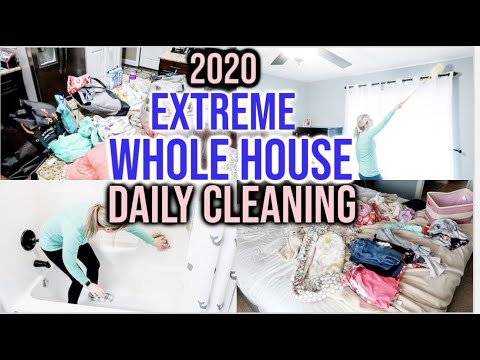 2020 EXTREME WHOLE HOUSE DAILY CLEAN WITH ME | ALL DAY SPEED CLEANING | INTENSE CLEANING MOTIVATION
