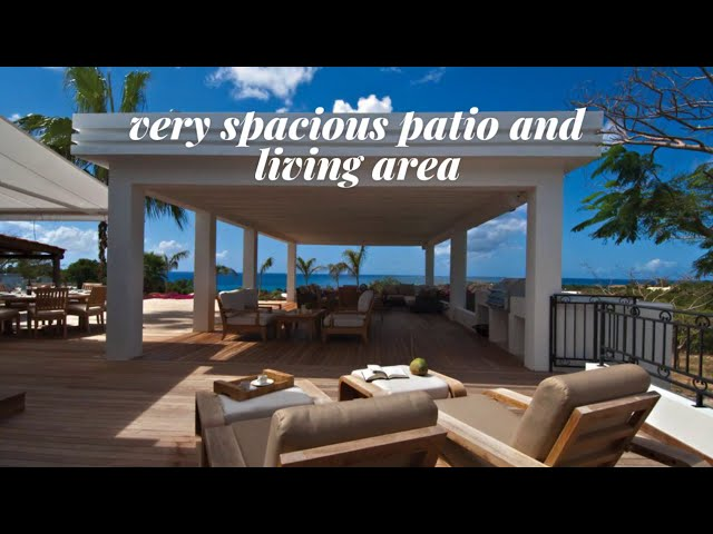 Luxury home for sale St Martin St Maarten Caribbean, villa Hacienda, hillside Mexican style estate
