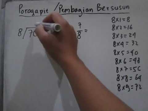 Cara Pembagian Porogapit Satuan (6, 7, 8, Dan 9) Dibagi 8 Mudah Difahami Bagian Kedua