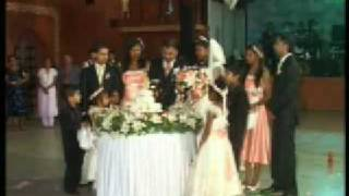 Bruno & Gema - Wedding Reception - Cutting of the Wedding Cake = Goa, India
