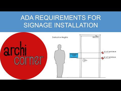 AC 009 - ADA requirements for signage installation