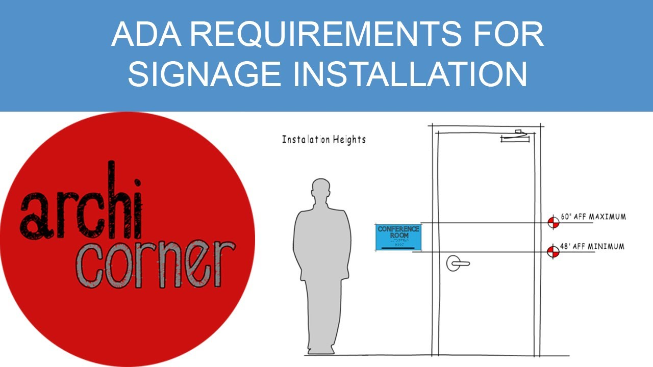 AC 009 - ADA requirements for signage installation - YouTube