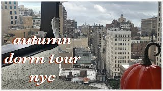 fall dorm tour // the new school nyc