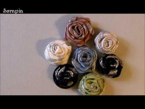 rosen aus stoffband youtube. Black Bedroom Furniture Sets. Home Design Ideas