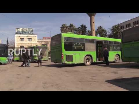 Syria: Aleppo's public buses back in service after 5 years