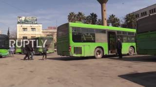 Syria  Aleppo's public buses back in service after 5 years
