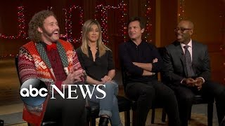 connectYoutube - Office Christmas Party | Full Cast Interview with Jennifer Aniston, Jason Bateman, & More