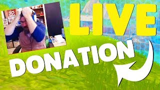 Donating Money To A FORTNITE Streamer! (Emotional Reaction)