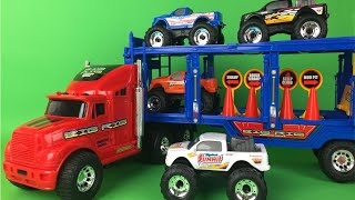Bright Wheels Monster Mover Trucks PlaySet for kids - Colorful Monster Truck Toys Mighty Wheels