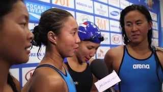 swimming lynette lim amanda lim quah ting wen and nur marina   17th asian games incheon 2014