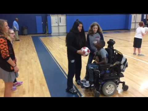 Adaptive art and physical education classes at Leland Middle School