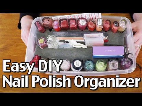Easy DIY Nail Polish Organizer - How I Organize Nail Polish
