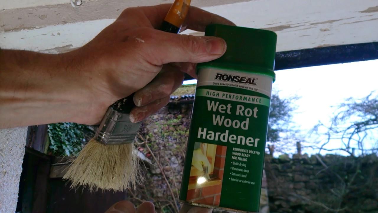 Ronseal Wet Rot Wood Hardener Demonstration Youtube