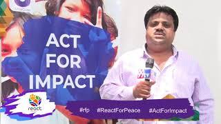 React For Peace   REACTion from Dr. Abdul Masoodh   Act For Impact