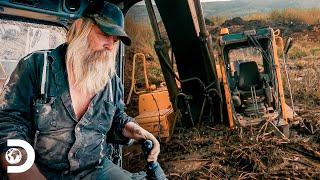 Tony Beets y su maquinaria se atascan en el lodo   Fiebre del Oro   Discovery Latinoamérica