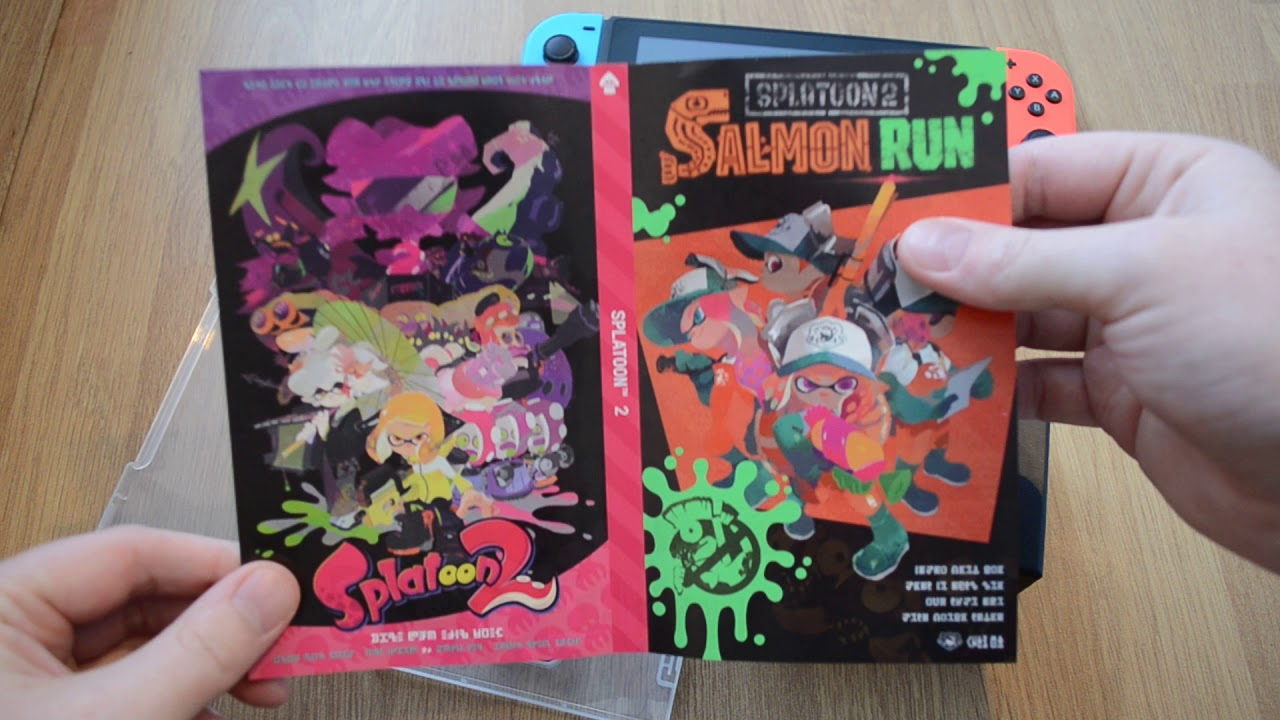 Splatoon 2 for Nintendo Switch - A look at the box and FREE gift