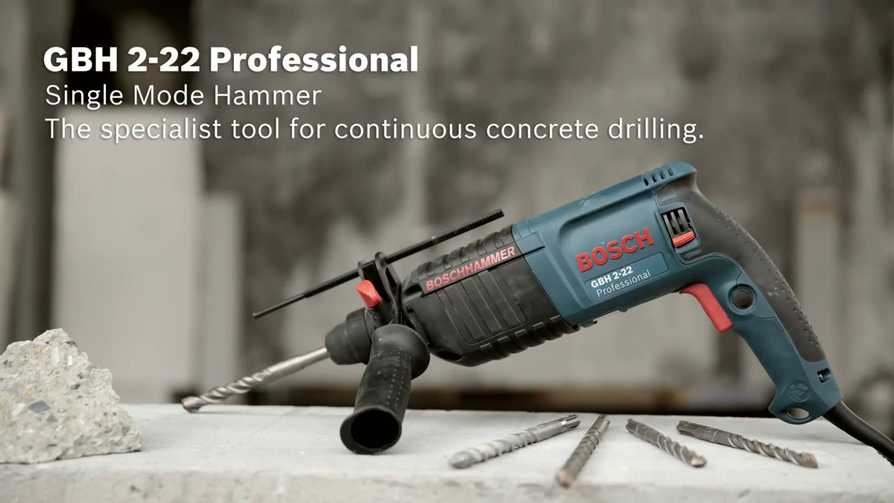 Bosch Rotary Hammer With Sds Plus Gbh 2 22 Professional Youtube Bor 26 Dre