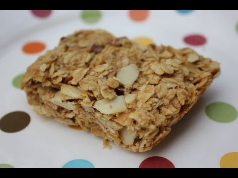 How to make healthy granola bars with peanut butter