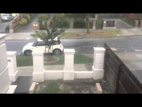 Crazy Hail Weather In Melbourne Australia
