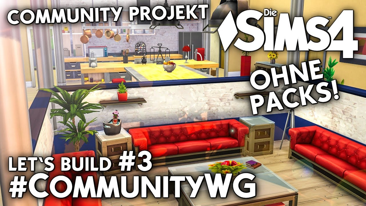 Die Sims 4 Community Wg Projekt Ohne Packs Mitmachen Bauen 3