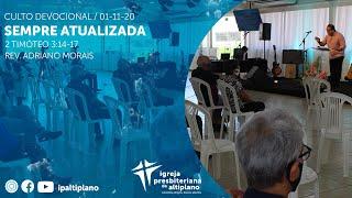 Sempre Atualizada - Culto Devocional - IP Altiplano - 01/11