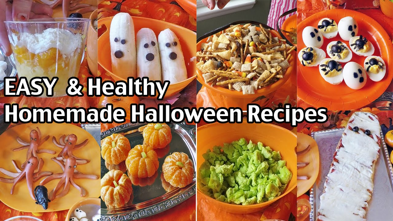 easy and healthy homemade halloween food ideas halloween alternatives youtube - Halloween Healthy Food