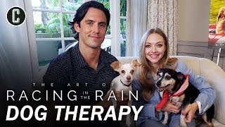 Milo Ventimiglia & Amanda Seyfried Play with Rescue Dogs - The Art of Racing in the Rain